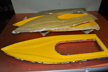 1521 3.83 oz fiberglass cloth with epoxy layup demolded
