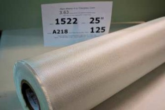 "Style 1522 Fiberglass Cloth 25"" 125 yard roll from Thayercraft side view"