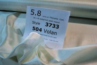 photo of 3733 6 oz fiberglass volan finished on table with id sheet from Thayercraft