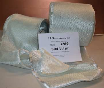 3789 12.5 oz/sq yd Fiberglass cloth looose rolls on table from Thayercraft