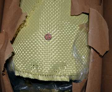 17 oz/sq yd style 5733 Kevlar in box from Thayercraft
