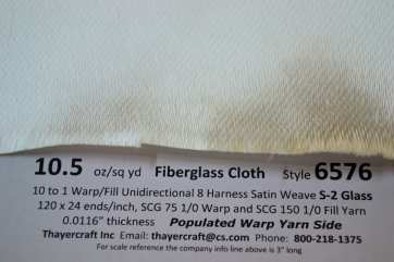 6576 close up with data warp yarn side 10.5 uni 8hs fiberglass cloth