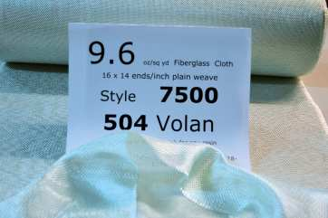 7500 504 Volan 10 oz fiberglass cloth  loose on table from Thayercraft