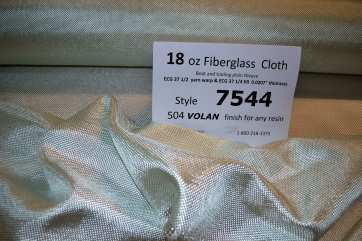 7544 18 oz tooling cloth Fiberglass 504 Volan finish from Thayercraft