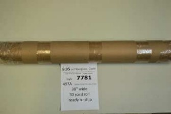 7781 38 497A fiberglass roll ready to ship from Thayercraft