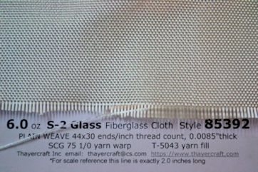 6 oz/sq yd S-2 glass style 85392 close up with data