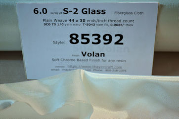 Style 85392 6 oz/sq yd S-2 glass fiberglass cloth loose