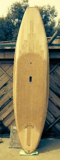 Doc Waddel's Balsa Surfboard using fiberglass from Thayercraft