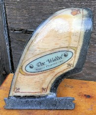 Doc Waddel's Balsa fin using fiberglass from Thayercraft