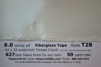 Style T28 fiberglass tape from Thayercraft
